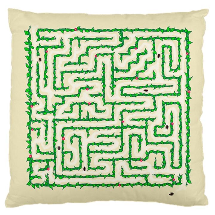 A-maze... Large Cushion Case (Single Sided)