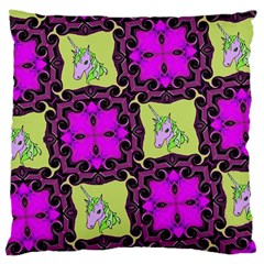Pink Unicorn Large Cushion Case (Single Sided)