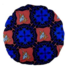 Blue Unicorn 18  Premium Round Cushion
