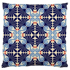 Curly blue Large Cushion Case (Two Sided)