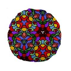 Bright Colors 15  Premium Round Cushion