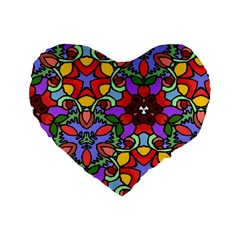 Bright Colors 16  Premium Heart Shape Cushion
