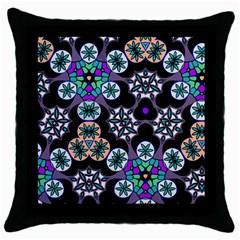 Tonia Design Black Throw Pillow Case