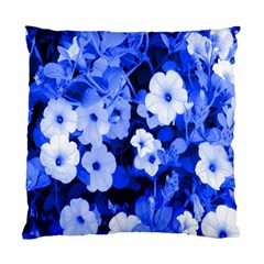 Blue Flowers Cushion Case (two Sided)