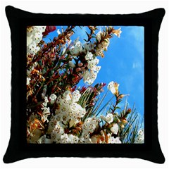 Australia Flowers Black Throw Pillow Case