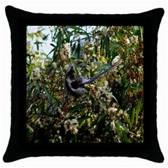 Australia Bird Black Throw Pillow Case