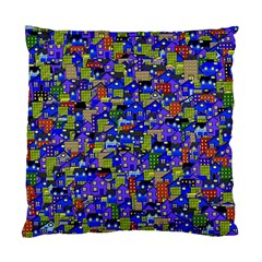 Houses Cushion Case (Two Sided)