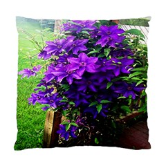 Purple Flowers Cushion Case (Two Sided)