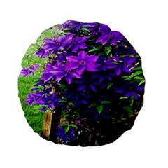 Purple Flowers 15  Premium Round Cushion
