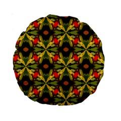 Irish green yellow 15  Premium Round Cushion