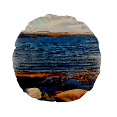 Sea Shore 15  Premium Round Cushion