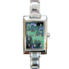 Celtic Symbolic Fractal Design in Green Rectangular Italian Charm Watch