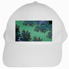 Celtic Symbolic Fractal Design In Green White Baseball Cap