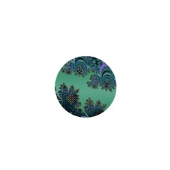 Celtic Symbolic Fractal Design In Green 1  Mini Button