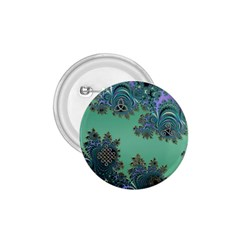 Celtic Symbolic Fractal Design In Green 1 75  Button