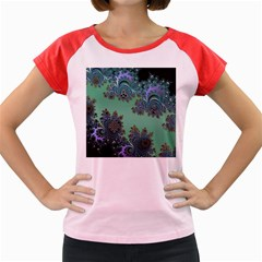 Celtic Symbolic Fractal Design in Green Women s Cap Sleeve T-Shirt (Colored)