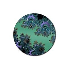 Celtic Symbolic Fractal Design In Green Drink Coasters 4 Pack (round)