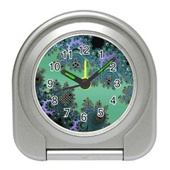 Celtic Symbolic Fractal Design in Green Desk Alarm Clock