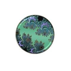 Celtic Symbolic Fractal Design In Green Golf Ball Marker (for Hat Clip)