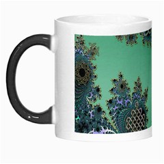 Celtic Symbolic Fractal Design in Green Morph Mug