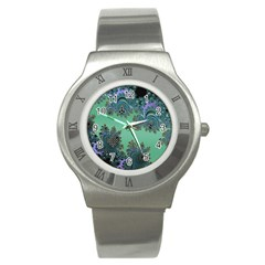 Celtic Symbolic Fractal Design in Green Stainless Steel Watch (Slim)