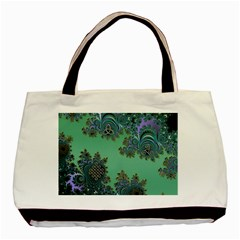 Celtic Symbolic Fractal Design in Green Classic Tote Bag