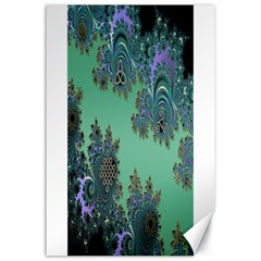 Celtic Symbolic Fractal Design in Green Canvas 24  x 36  (Unframed)