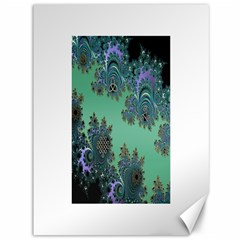 Celtic Symbolic Fractal Design in Green Canvas 36  x 48  (Unframed)