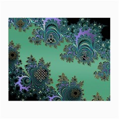 Celtic Symbolic Fractal Design in Green Glasses Cloth (Small, Two Sided)