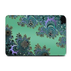 Celtic Symbolic Fractal Design in Green Small Door Mat