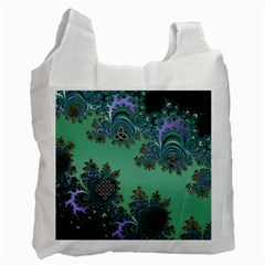 Celtic Symbolic Fractal Design in Green Recycle Bag (Two Sides)