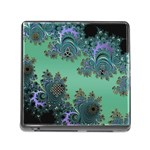 Celtic Symbolic Fractal Design in Green Memory Card Reader with Storage (Square) Front