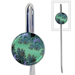 Celtic Symbolic Fractal Design in Green Bookmark
