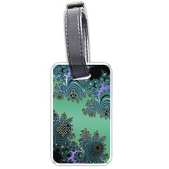 Celtic Symbolic Fractal Design in Green Luggage Tag (Two Sides)
