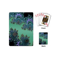 Celtic Symbolic Fractal Design in Green Playing Cards (Mini)