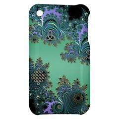 Celtic Symbolic Fractal Design in Green Apple iPhone 3G/3GS Hardshell Case
