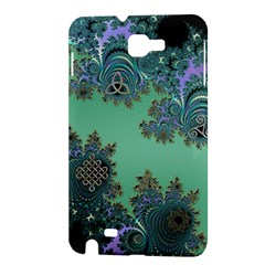 Celtic Symbolic Fractal Design in Green Samsung Galaxy Note 1 Hardshell Case