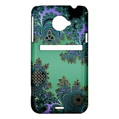 Celtic Symbolic Fractal Design in Green HTC Evo 4G LTE Hardshell Case