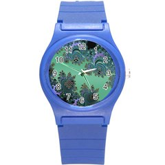 Celtic Symbolic Fractal Design in Green Plastic Sport Watch (Small)