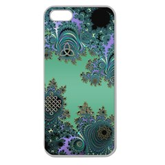 Celtic Symbolic Fractal Design In Green Apple Seamless Iphone 5 Case (clear)