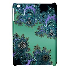 Celtic Symbolic Fractal Design in Green Apple iPad Mini Hardshell Case