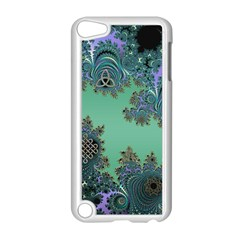 Celtic Symbolic Fractal Design in Green Apple iPod Touch 5 Case (White)