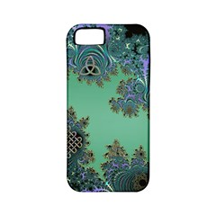 Celtic Symbolic Fractal Design in Green Apple iPhone 5 Classic Hardshell Case (PC+Silicone)