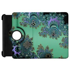 Celtic Symbolic Fractal Design In Green Kindle Fire Hd 7  (1st Gen) Flip 360 Case