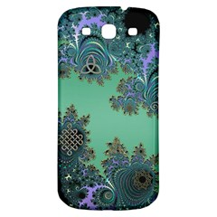 Celtic Symbolic Fractal Design in Green Samsung Galaxy S3 S III Classic Hardshell Back Case