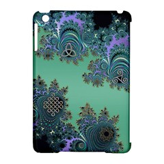 Celtic Symbolic Fractal Design in Green Apple iPad Mini Hardshell Case (Compatible with Smart Cover)