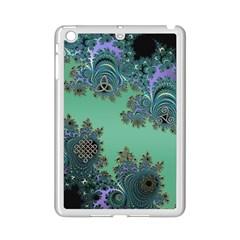 Celtic Symbolic Fractal Design In Green Apple Ipad Mini 2 Case (white)