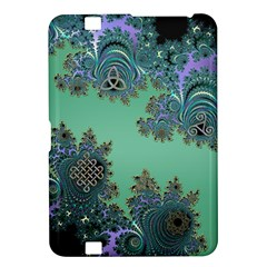 Celtic Symbolic Fractal Design in Green Kindle Fire HD 8.9  Hardshell Case