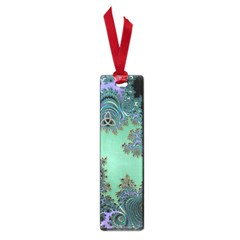 Celtic Symbolic Fractal Design In Green Small Bookmark