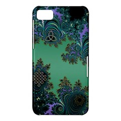 Celtic Symbolic Fractal Design in Green BlackBerry Z10 Hardshell Case